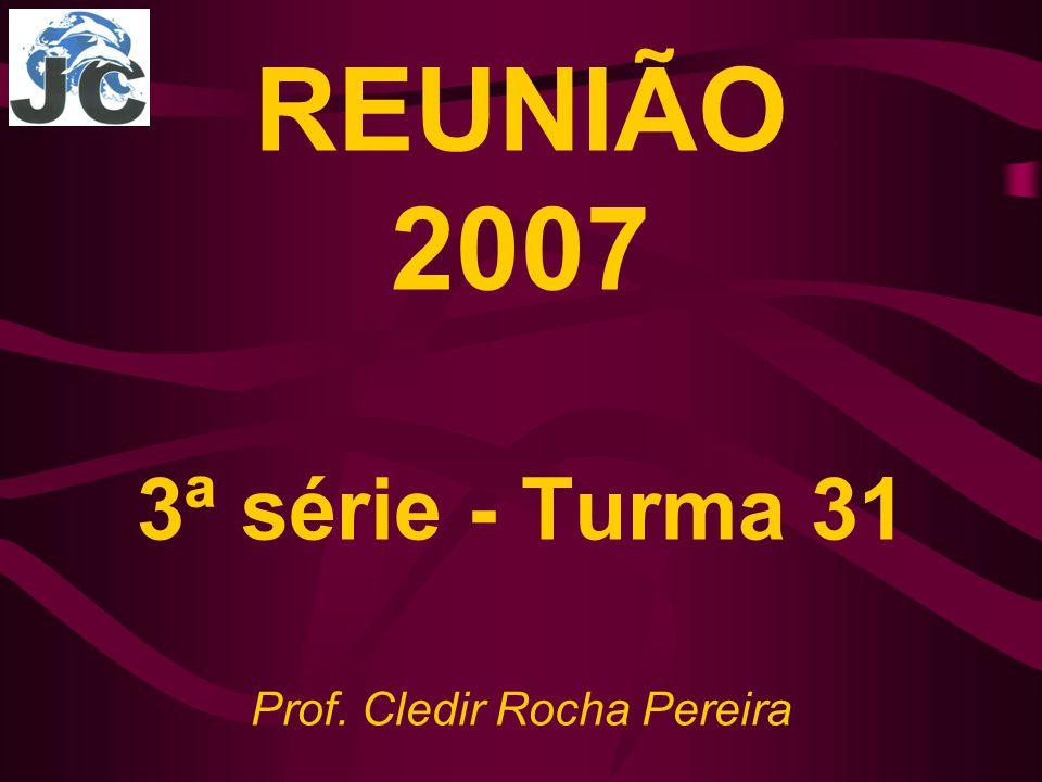 REUNIÃO 2007 3ª série - Turma 31 Prof. Cledir Rocha Pereira