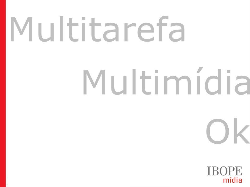 Geração Y (20 a 29 anos) Geração Z (12 a 19 anos) Target Group Index BrY11w1+w2 (Ago09-Jul10) Multitarefa Multimídia Ok