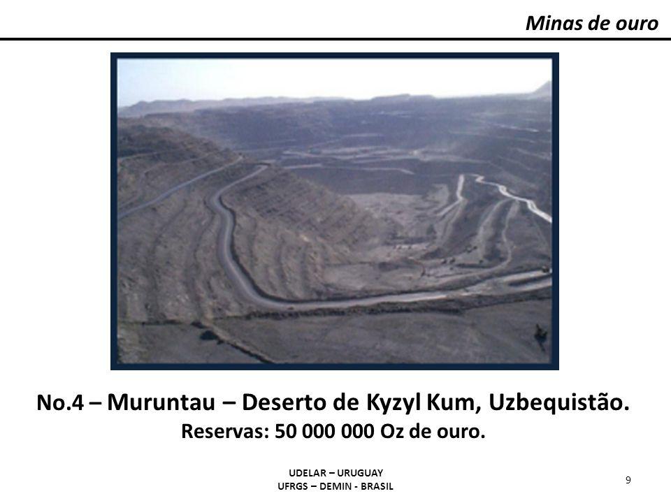 Minas de ouro UDELAR – URUGUAY UFRGS – DEMIN - BRASIL 9 No.4 – Muruntau – Deserto de Kyzyl Kum, Uzbequistão. Reservas: 50 000 000 Oz de ouro.