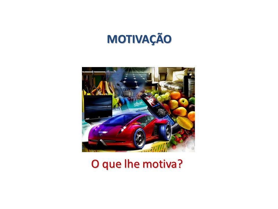 MOTIVAÇÃO O que lhe motiva?
