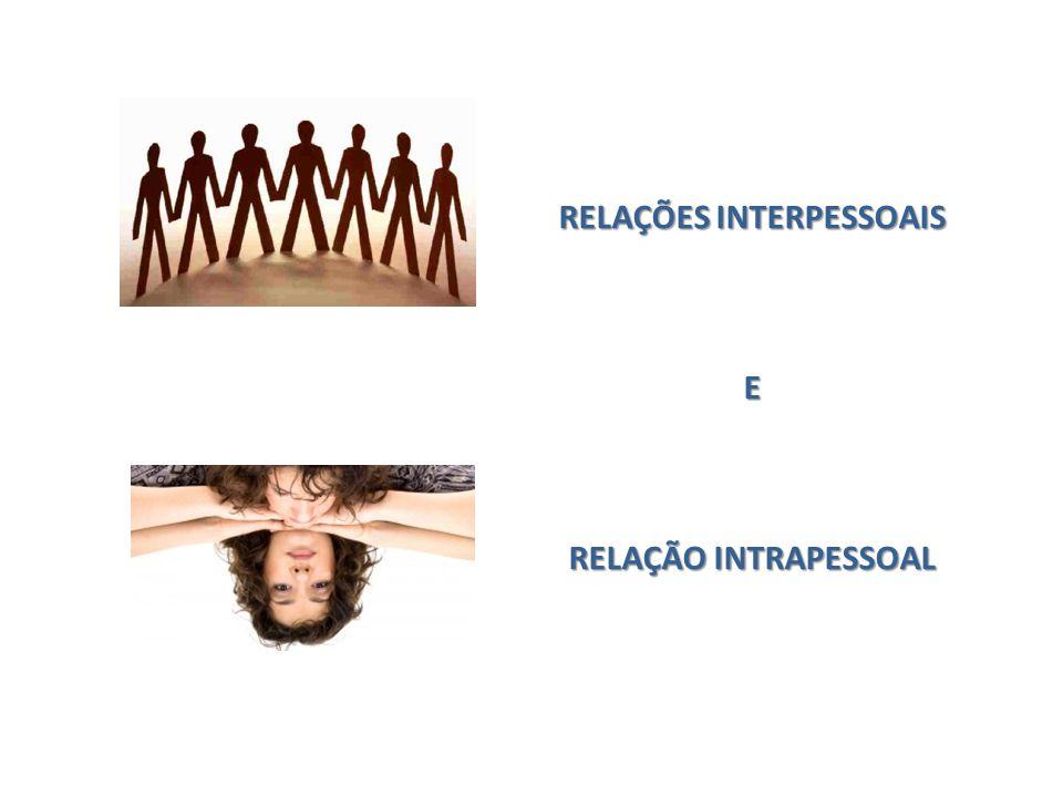 Relação Intrapessoal Refere-se ao ser interno (os desejos, as angustias, percepções, os conflitos, as alegrias), ou seja tudo que se relaciona aos próprios sentimentos.