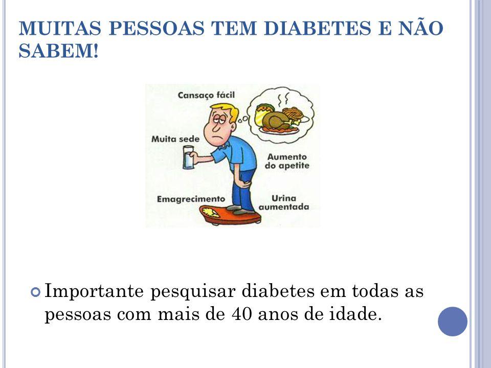 D IAGNÓSTICO Presença de açúcar na urina ou no sangue O diagnóstico é confirmado pelo exame laboratorial de sangue (glicemia) após um jejum de 8 a 12 horas.