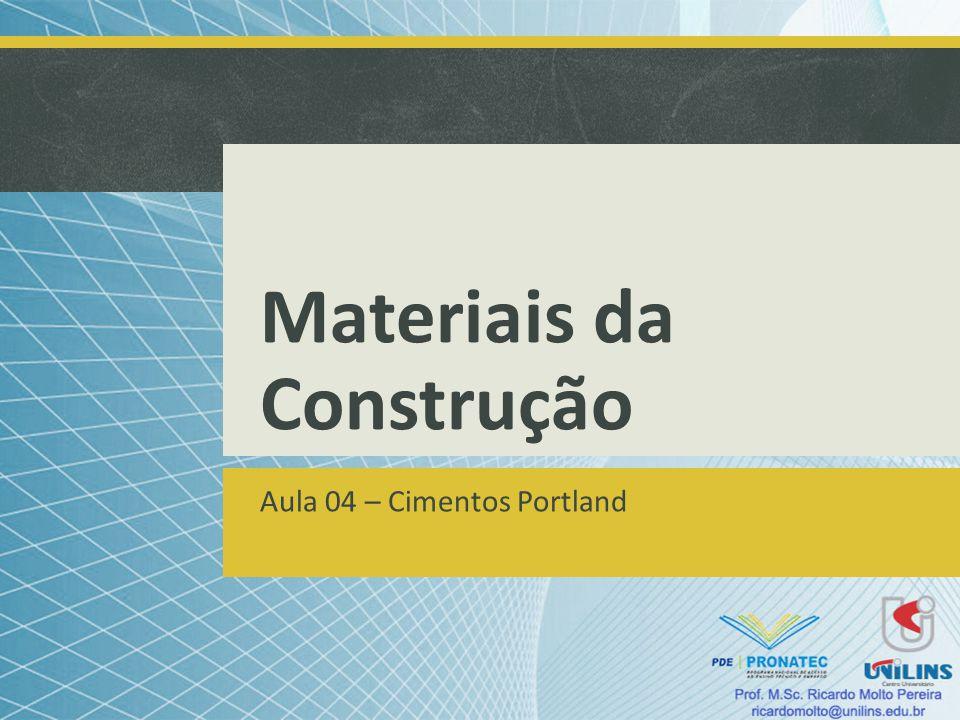 Materiais da Construção Aula 04 – Cimentos Portland