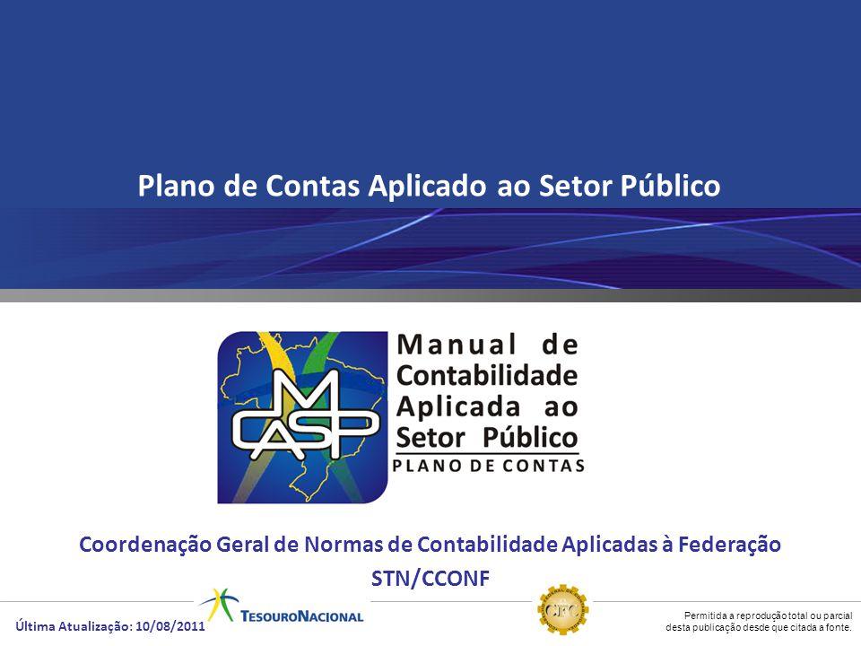 Permitida a reprodução total ou parcial desta publicação desde que citada a fonte. Plano de Contas Aplicado ao Setor Público Coordenação Geral de Norm