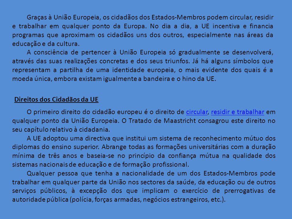 Graças à União Europeia, os cidadãos dos Estados-Membros podem circular, residir e trabalhar em qualquer ponto da Europa.