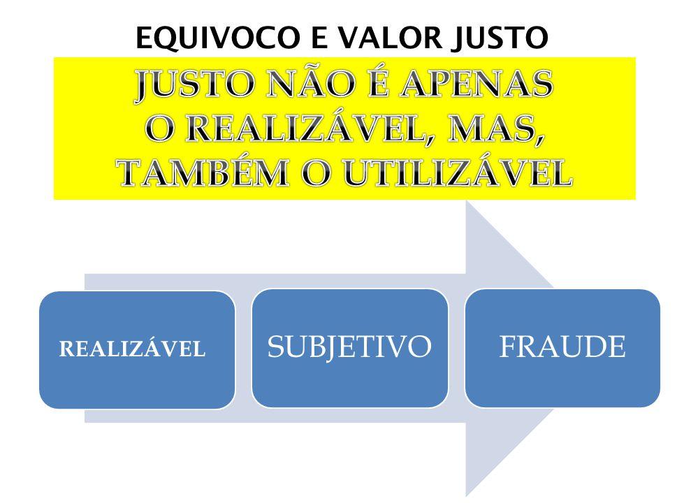 EQUIVOCO E VALOR JUSTO REALIZÁVEL SUBJETIVOFRAUDE