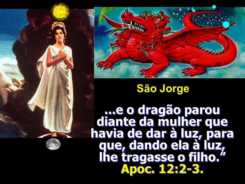 E viu-se outro sinal no céu; e eis que era um grande dragão vermelho, que tinha sete cabeças e dez chifres, e sobre as suas cabeças sete diademas. E a