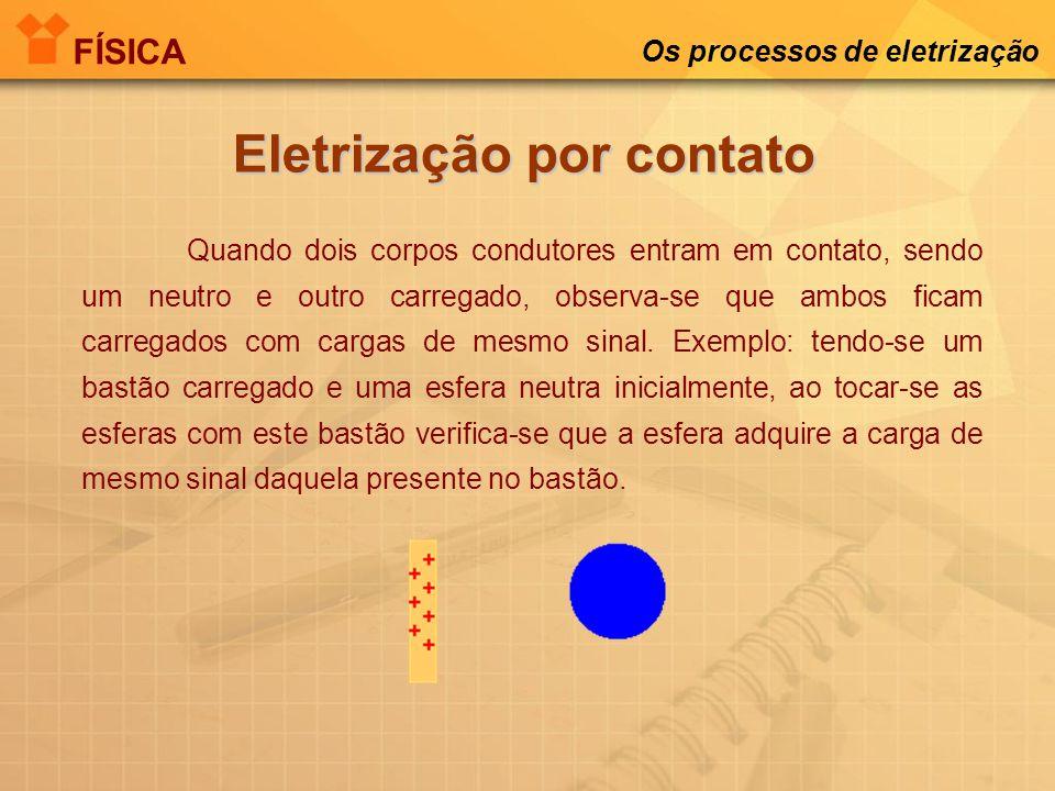 Os processos de eletrização A indução ocorre quando se tem um corpo que está inicialmente eletrizado e é colocado próximo a um corpo neutro. Com isso,
