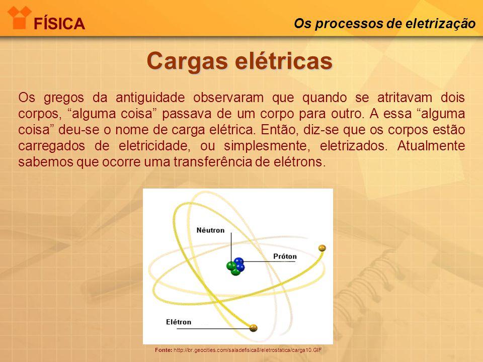 FÍSICA Os processos de eletrização Você consegue explicar a imagem abaixo? Fonte: http://www.faperj.br/img/repositorio/vandeergraf.jpg