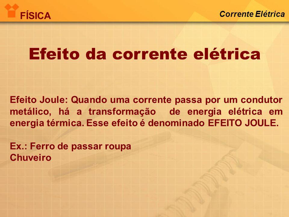 Sentidos da corrente elétrica Real Convencional Corrente Elétrica FÍSICA