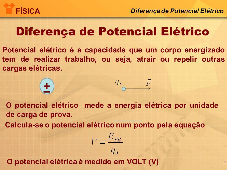 Diferença de Potencial Elétrico FÍSICA