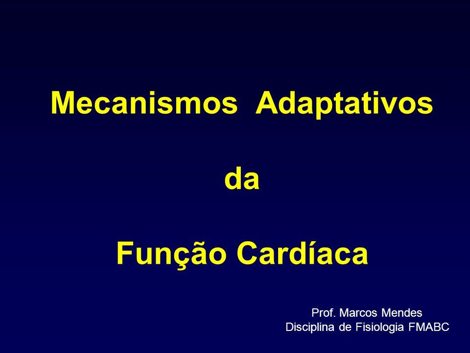 Mecanismos Adaptativos da Função Cardíaca Prof. Marcos Mendes Disciplina de Fisiologia FMABC