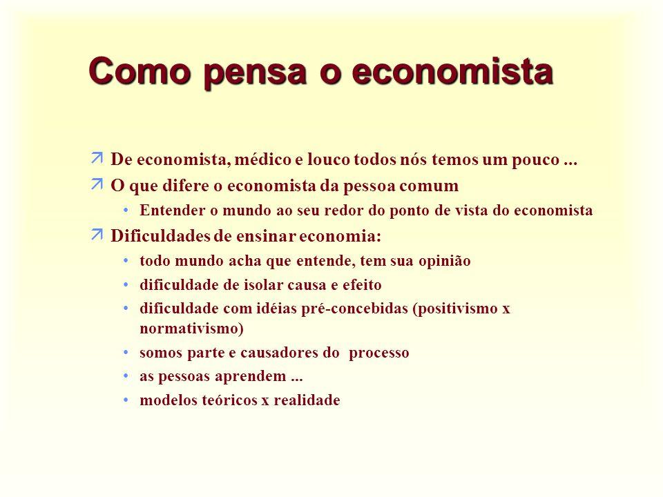 Custo de oportunidade u Numa economia em pleno emprego, precisa-se sempre deixar de produzir um bem para produzir outro bem.
