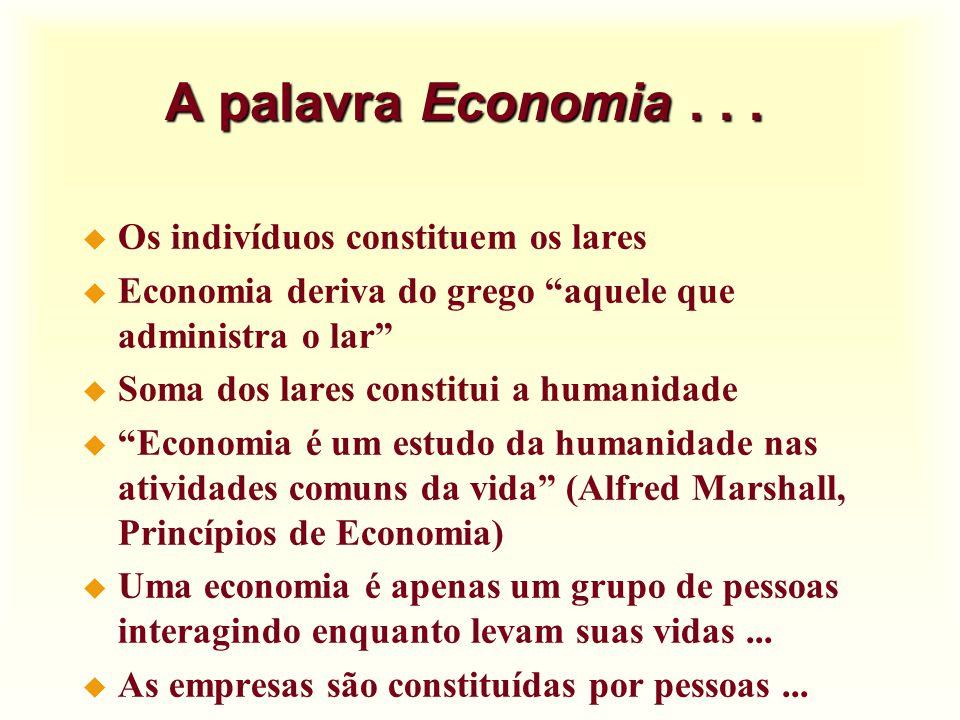 Conclusão u Economia é o estudo da distribuição de recursos escassos u Por que estudar economia .