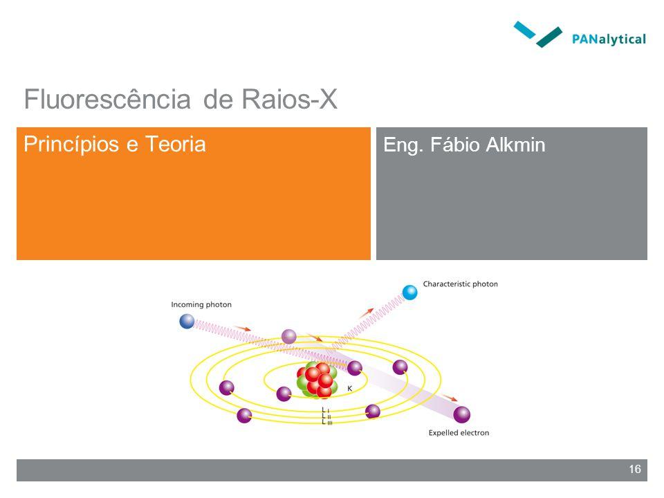 16 Fluorescência de Raios-X Princípios e Teoria Eng. Fábio Alkmin