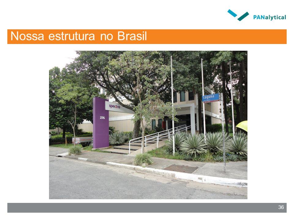 Nossa estrutura no Brasil 36