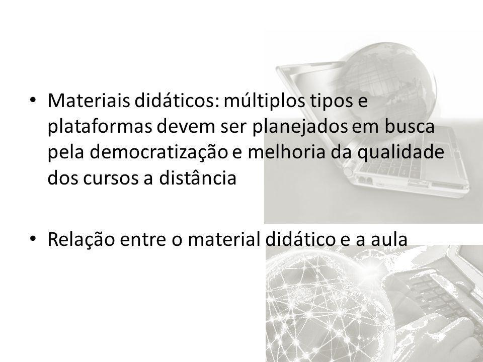 Materiais didáticos: múltiplos tipos e plataformas devem ser planejados em busca pela democratização e melhoria da qualidade dos cursos a distância Re