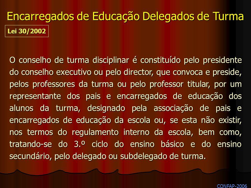 O conselho de turma disciplinar é constituído pelo presidente do conselho executivo ou pelo director, que convoca e preside, pelos professores da turm
