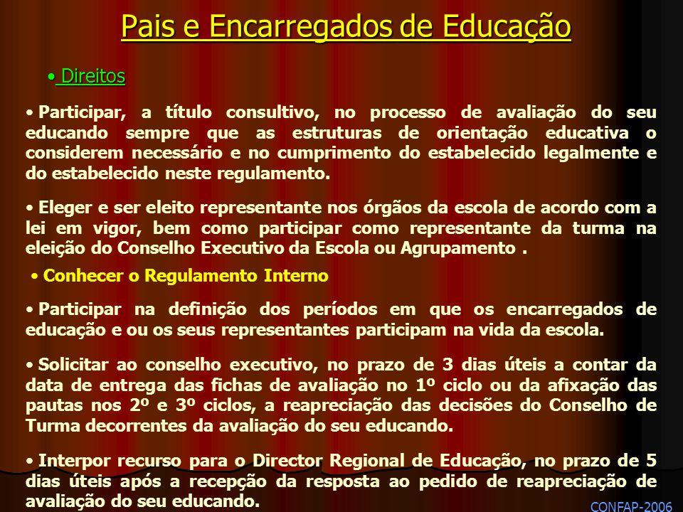 Participar na definição dos períodos em que os encarregados de educação e ou os seus representantes participam na vida da escola. Solicitar ao conselh