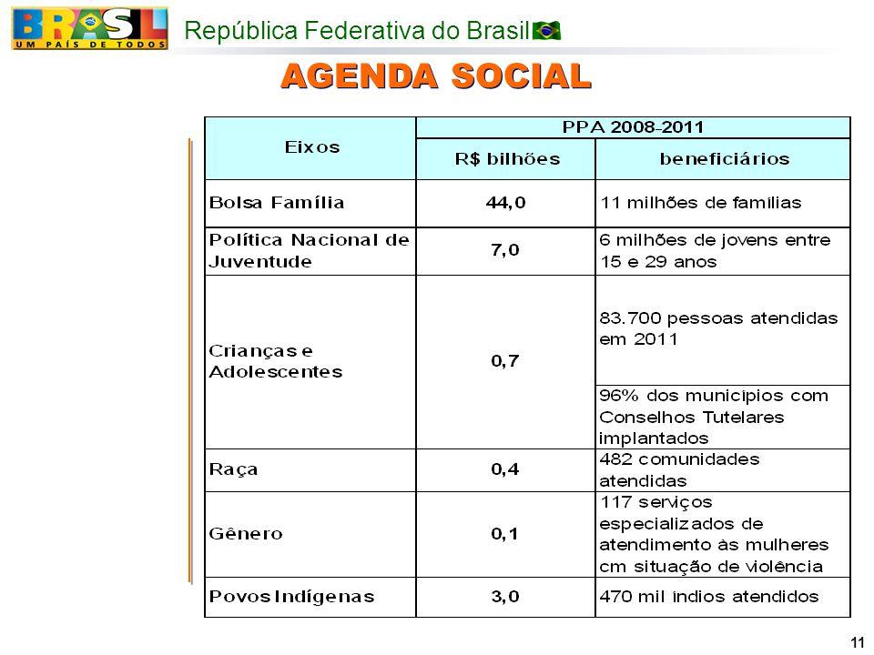República Federativa do Brasil 11 AGENDA SOCIAL
