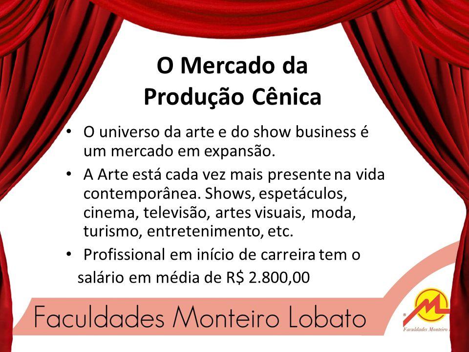 O Mercado da Produção Cênica O universo da arte e do show business é um mercado em expansão.