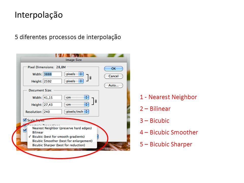 Interpolação 1 – Nearest Neighbor Método mais rápido (e menos preciso!).