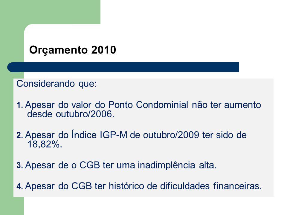 Orçamento 2010 Considerando que: 1.