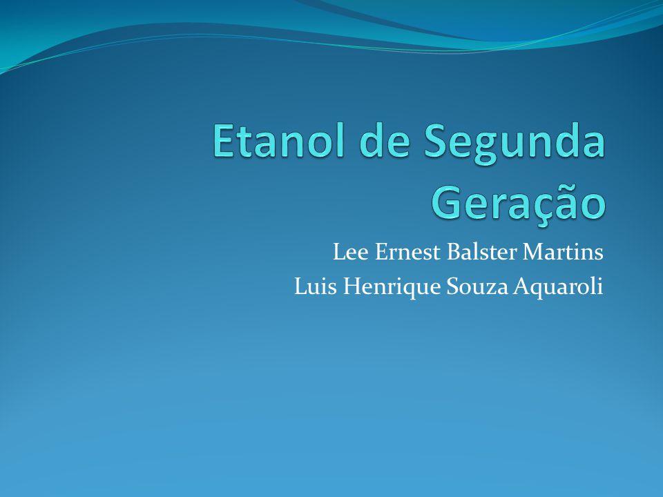 Etanol Produção dividida em dois tipo: Primeira Geração Segunda Geração (Etanol Lignocelulósico) sacarose da biomassa Celulose de matérias primas lignocelulósicas