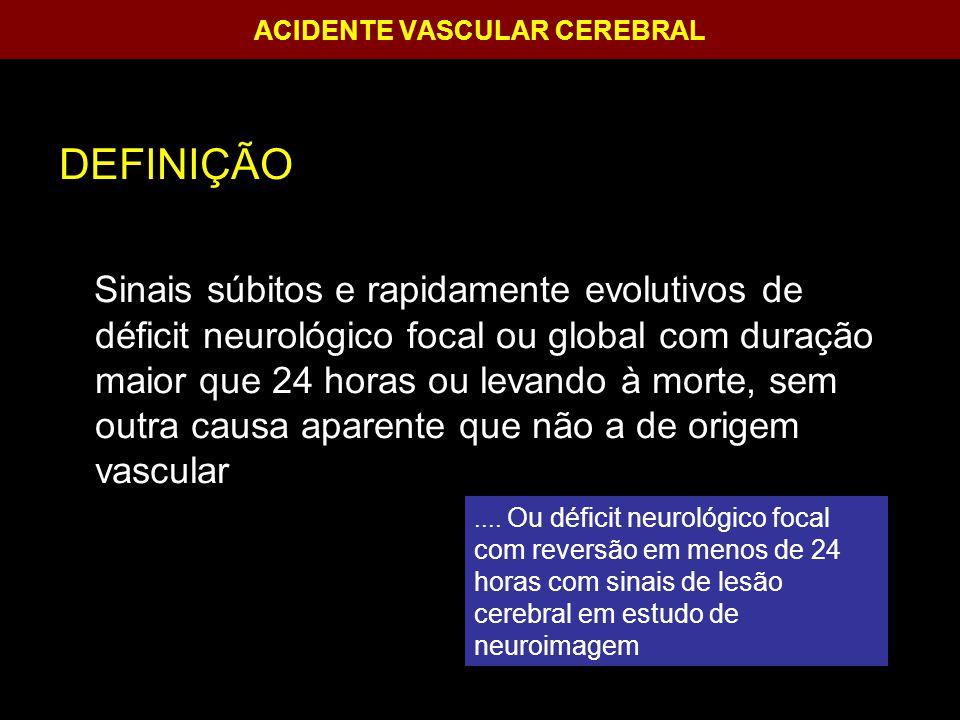 ACIDENTE VASCULAR CEREBRAL TRATAMENTO CIRÚRGICO Critérios de inclusão:Critérios de inclusão: - Evidência de hemorrgia intracerebral e cerebelar na tomografia de crânio.