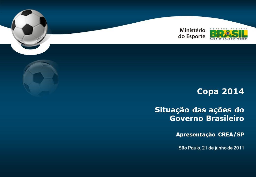 Code-P0 São Paulo, 21 de junho de 2011 Copa 2014 Situação das ações do Governo Brasileiro Apresentação CREA/SP