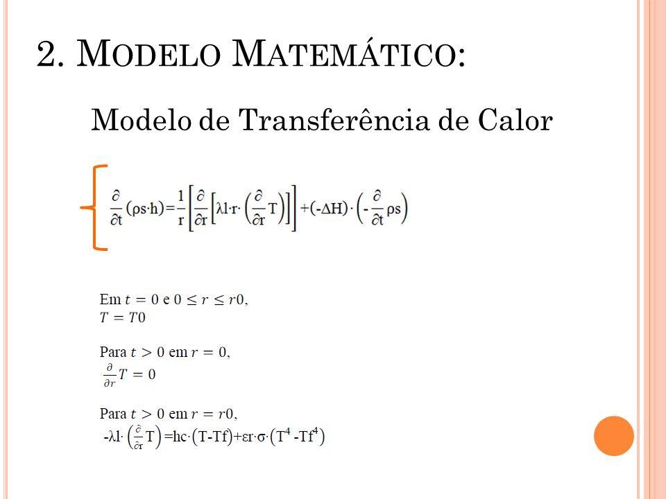 2. M ODELO M ATEMÁTICO : Modelo de Transferência de Calor