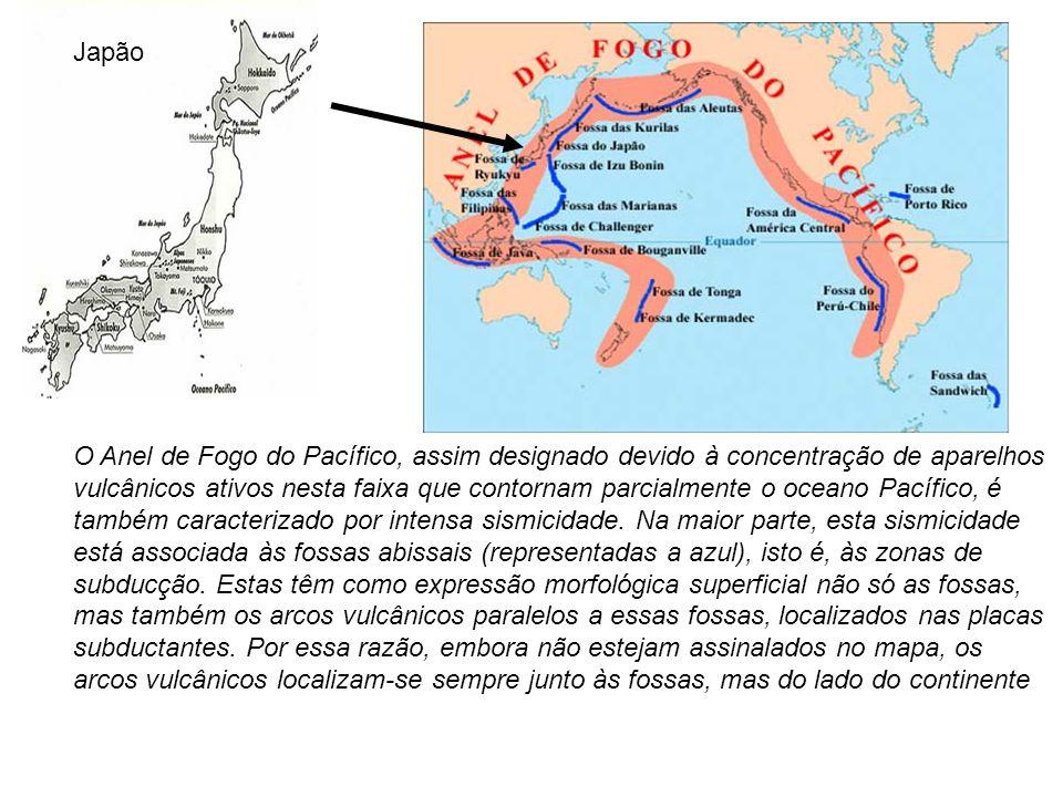 O Anel de Fogo do Pacífico, assim designado devido à concentração de aparelhos vulcânicos ativos nesta faixa que contornam parcialmente o oceano Pacífico, é também caracterizado por intensa sismicidade.