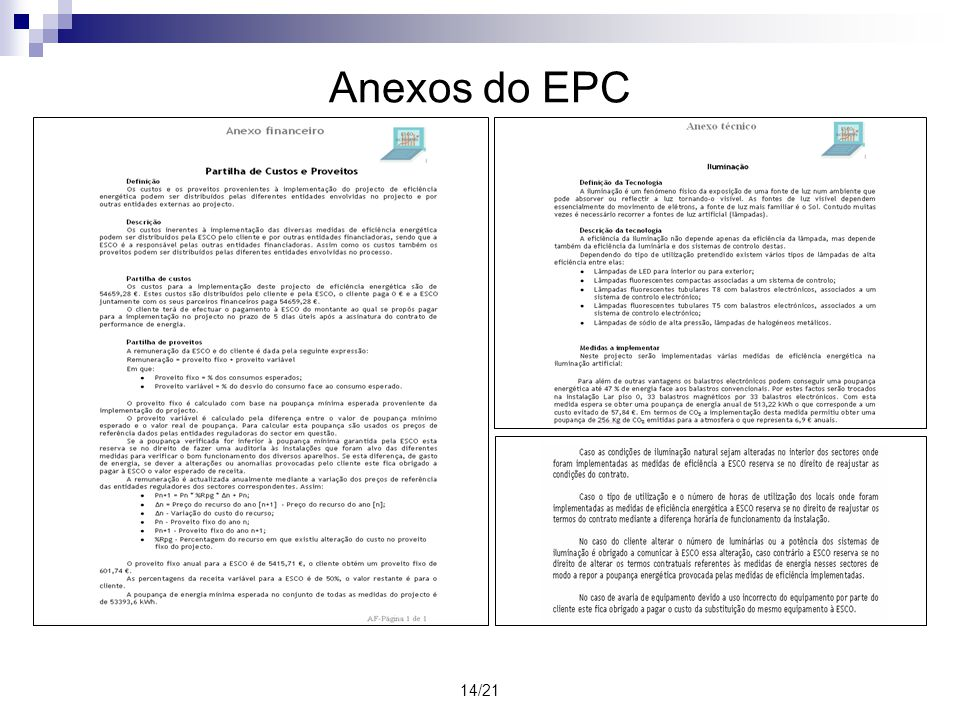 14/21 Anexos do EPC