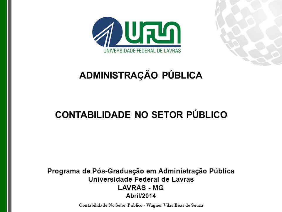 ADMINISTRAÇÃO PÚBLICA CONTABILIDADE NO SETOR PÚBLICO Programa de Pós-Graduação em Administração Pública Universidade Federal de Lavras LAVRAS - MG Abr