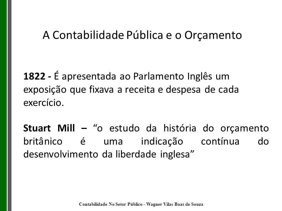 1822 - É apresentada ao Parlamento Inglês um exposição que fixava a receita e despesa de cada exercício. Stuart Mill – o estudo da história do orçamen