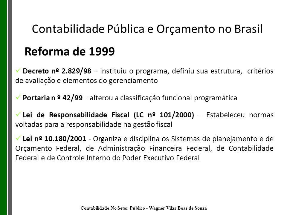 Decreto nº 2.829/98 – instituiu o programa, definiu sua estrutura, critérios de avaliação e elementos do gerenciamento Portaria n º 42/99 – alterou a