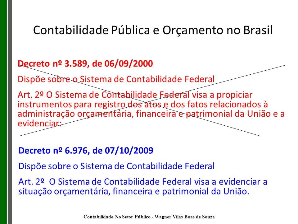 Decreto nº 6.976, de 07/10/2009 Dispõe sobre o Sistema de Contabilidade Federal Art. 2º O Sistema de Contabilidade Federal visa a evidenciar a situaçã