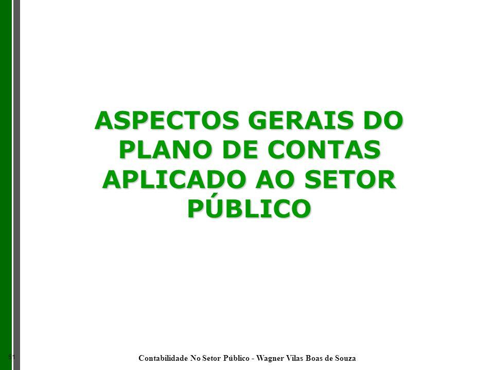 ASPECTOS GERAIS DO PLANO DE CONTAS APLICADO AO SETOR PÚBLICO 51 Contabilidade No Setor Público - Wagner Vilas Boas de Souza