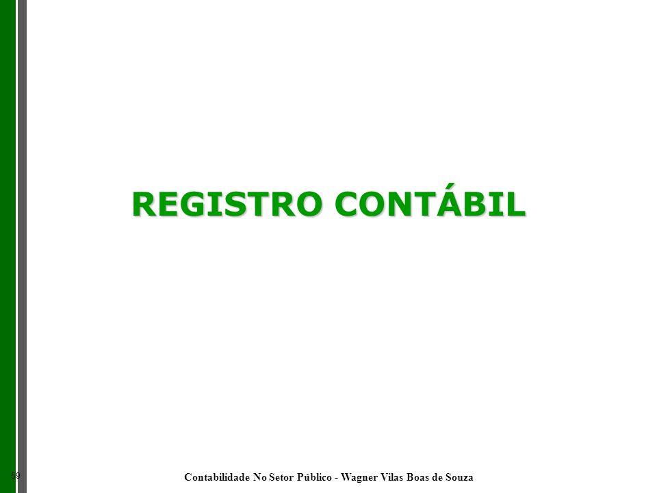 REGISTRO CONTÁBIL 59 Contabilidade No Setor Público - Wagner Vilas Boas de Souza