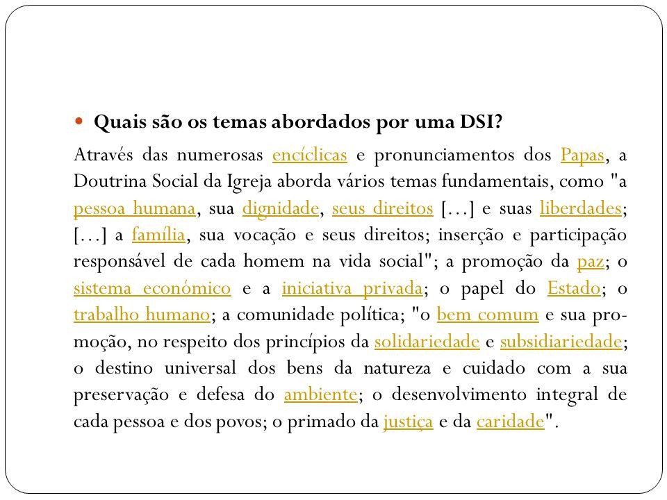 Em que a Igreja Católica se fundamenta ser escrita um DSI.