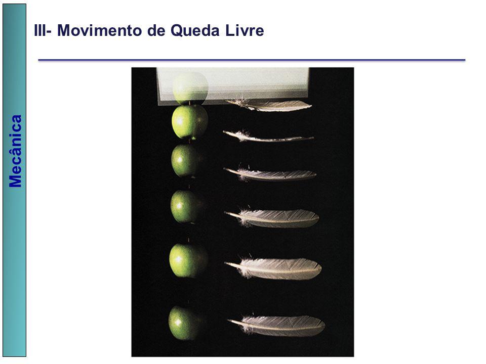 Mecânica III- Movimento de Queda Livre
