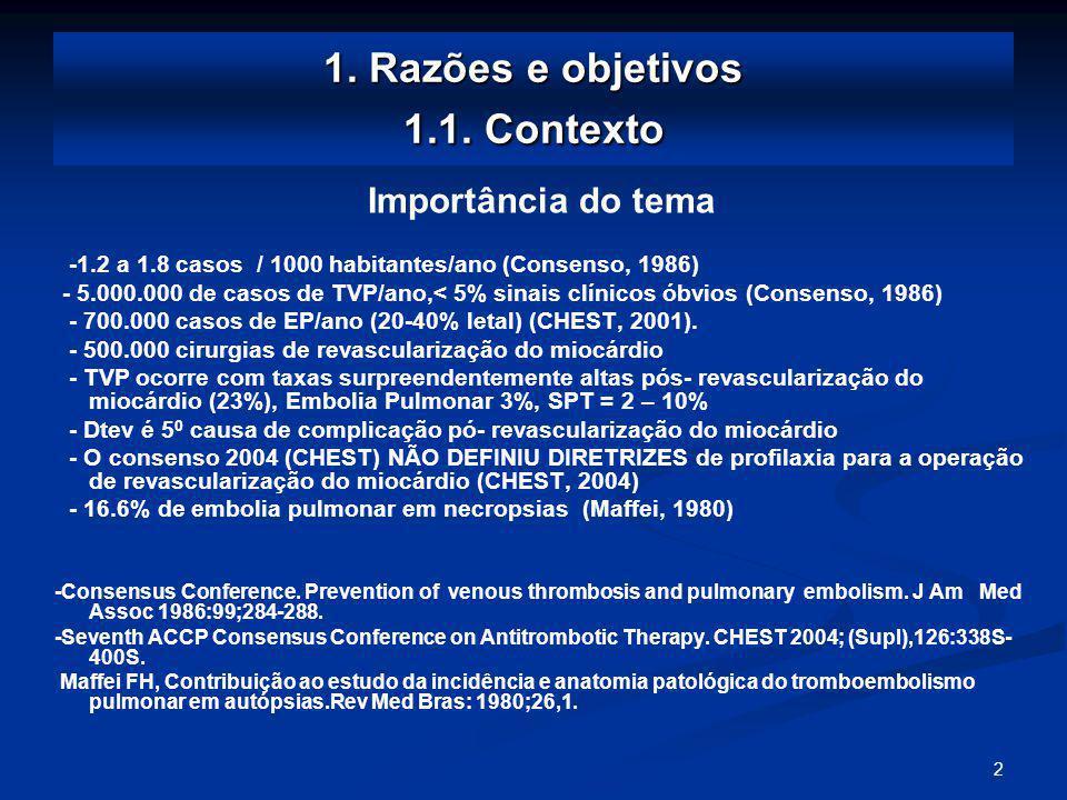 2 1.Razões e objetivos 1.1.