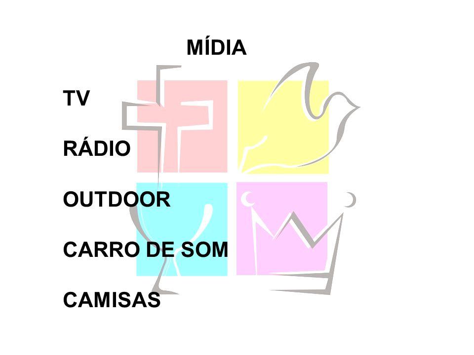 MÍDIA TV RÁDIO OUTDOOR CARRO DE SOM CAMISAS
