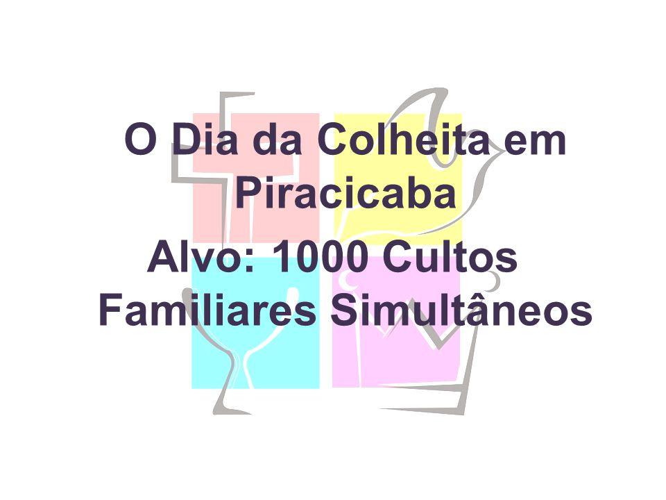 O Dia da Colheita em Piracicaba Alvo: 1000 Cultos Familiares Simultâneos