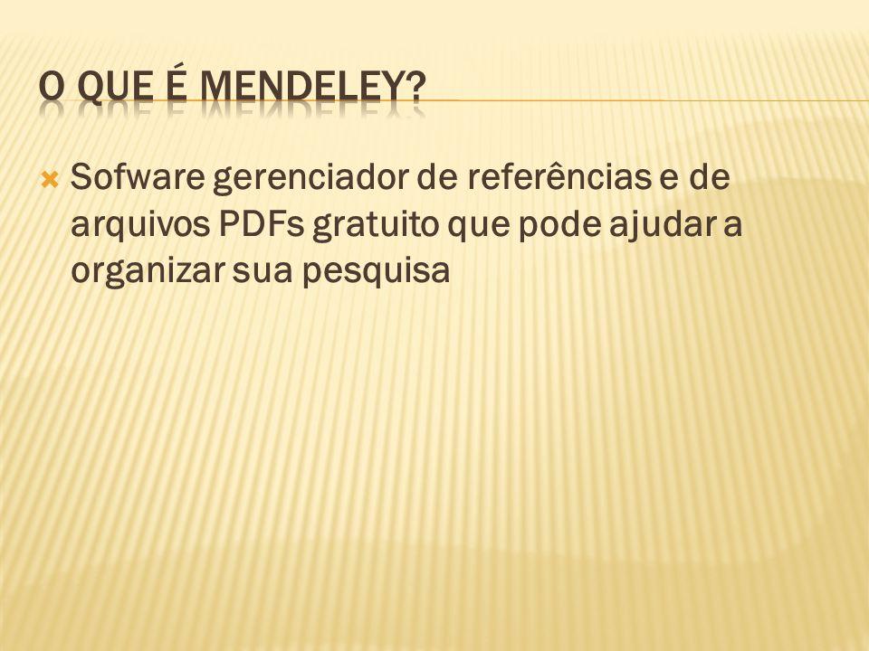 Sofware gerenciador de referências e de arquivos PDFs gratuito que pode ajudar a organizar sua pesquisa