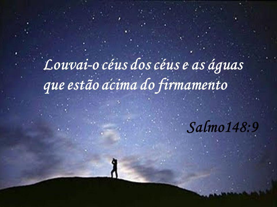Salmo148:9 Louvai-o céus dos céus e as águas que estão acima do firmamento