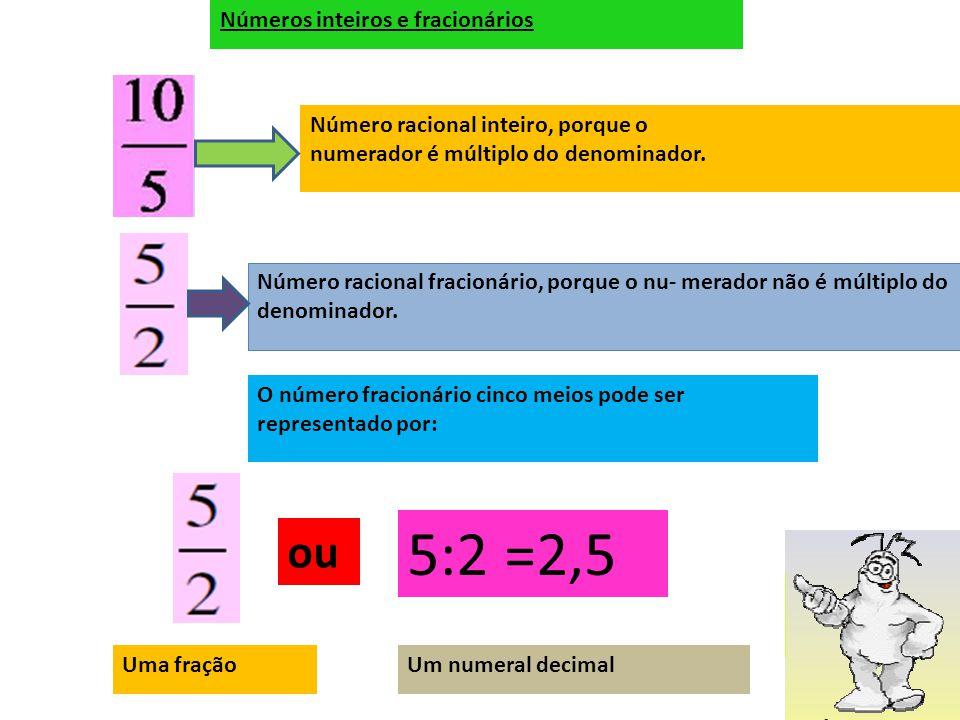 Exemplo: leitura de frações Quatro sextos dois sextosUm quarto Dois oitavos Quatro dezesseis avos