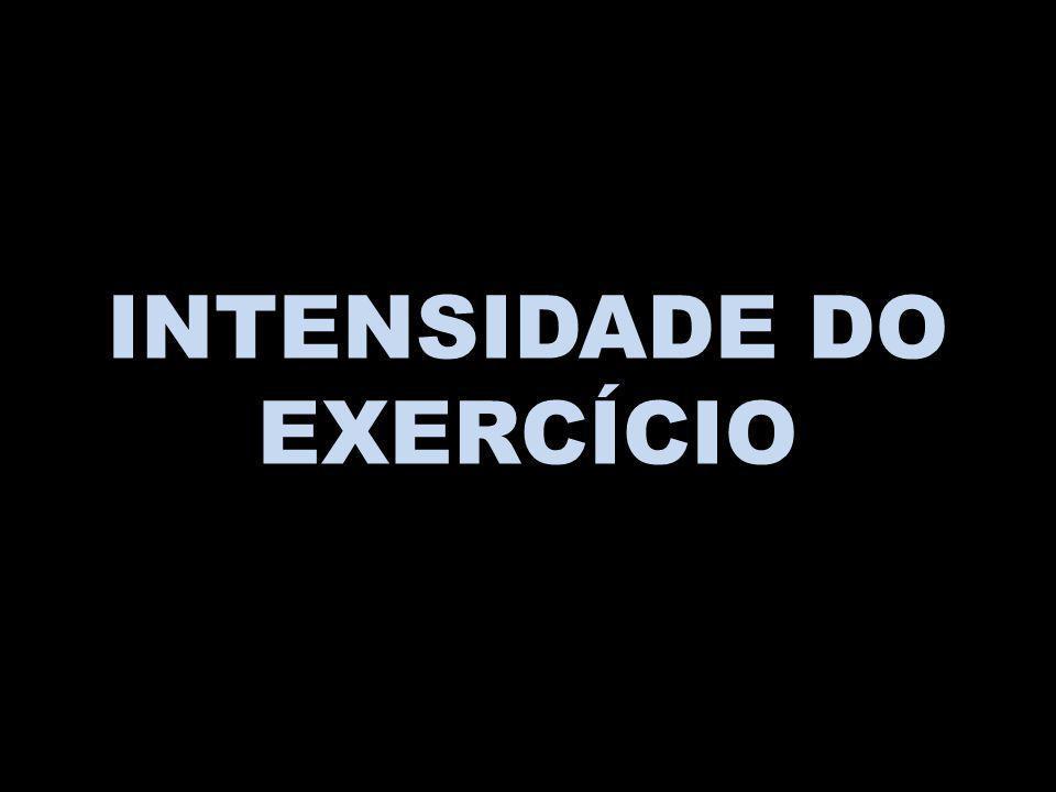 INTENSIDADE DO EXERCÍCIO