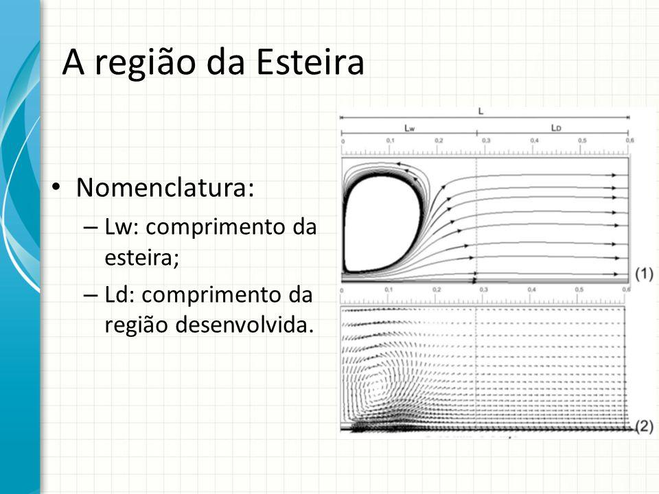 A região da Esteira Nomenclatura: – Lw: comprimento da esteira; – Ld: comprimento da região desenvolvida.