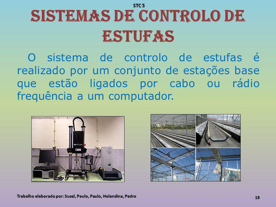 Sistemas de controlo de estufas O sistema de controlo de estufas é realizado por um conjunto de estações base que estão ligados por cabo ou rádio freq